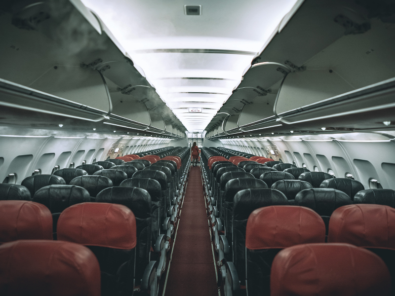 airline seats in a row